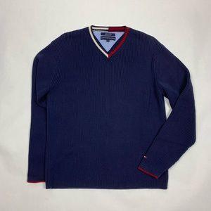 Tommy Hilfiger V Neck Sweater Ribbed L